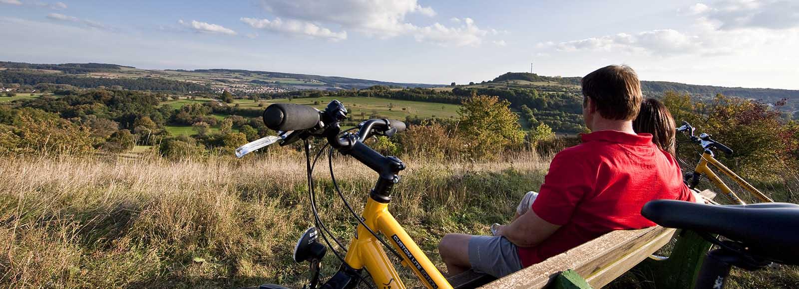 Fahrradpause mit Aussicht